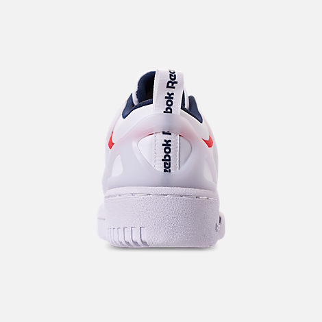 Back view of Men's Reebok Workout Adv Casual Shoes in White/Collegiate Navy/Primal Red