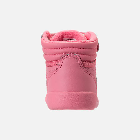 Back view of Girls' Toddler Reebok Freestyle Hi Casual Shoes in Pink