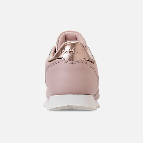 Back view of Girls' Big Kids' Reebok Classic Leather Casual Shoes