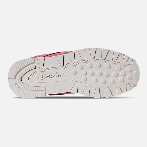 Bottom view of Girls' Big Kids' Reebok Classic Leather Casual Shoes