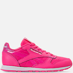Girls' Grade School Reebok Classic Leather Girl Squad Casual Shoes