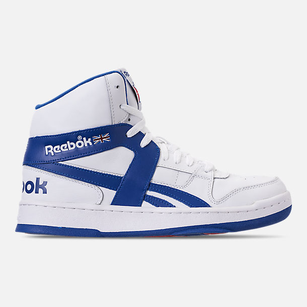 Right view of Men's Reebok BB 5600 Archive Off-Court Shoes in White/Collegiate Royal/Excellent Red
