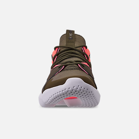 Front view of Men's Reebok 3D OP. Lite Casual Shoes in Army Green/Digi Pink