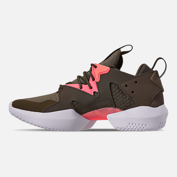 Left view of Men's Reebok 3D OP. Lite Casual Shoes in Army Green/Digi Pink