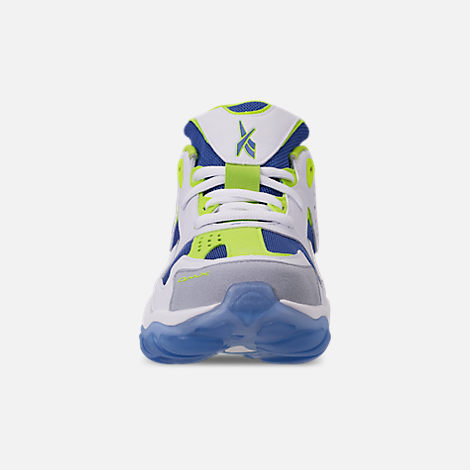 Front view of Men s Reebok DMX Series 1600 Casual Shoes in White Neon Lime  ae1dd507f