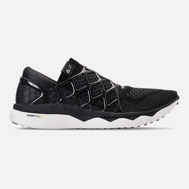 Right view of Men's Reebok Liquid Floatride Running Shoes in Black/White