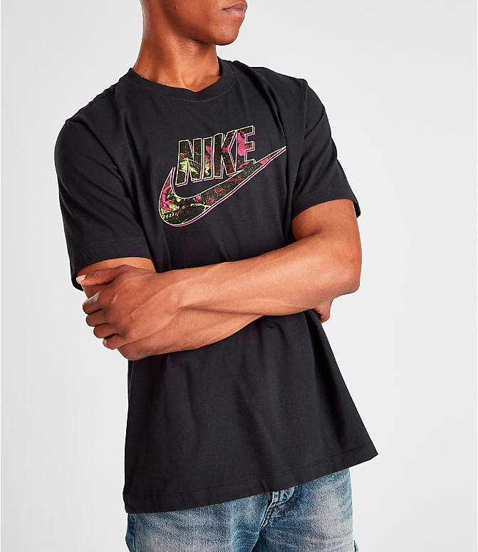 Detail 2 view of Men's Nike Sportswear Gel Limeade Logo T-Shirt in Black