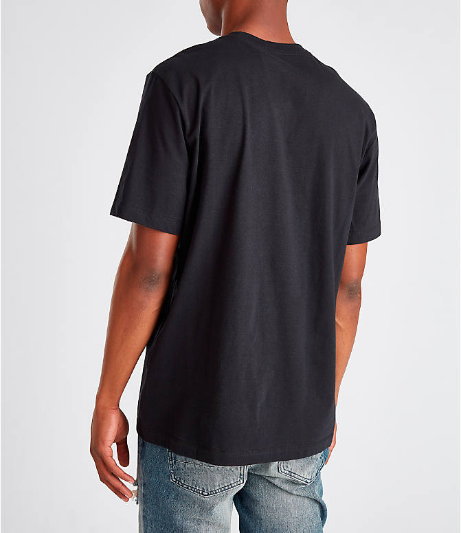 Back Left view of Men's Nike Sportswear Gel Limeade Logo T-Shirt in Black