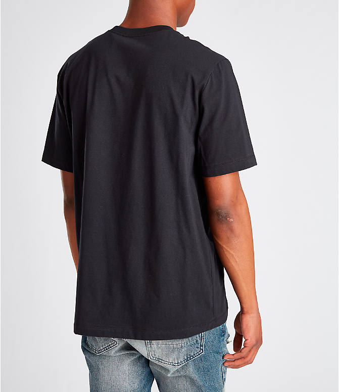 Back Right view of Men's Nike Sportswear Gel Limeade Logo T-Shirt in Black