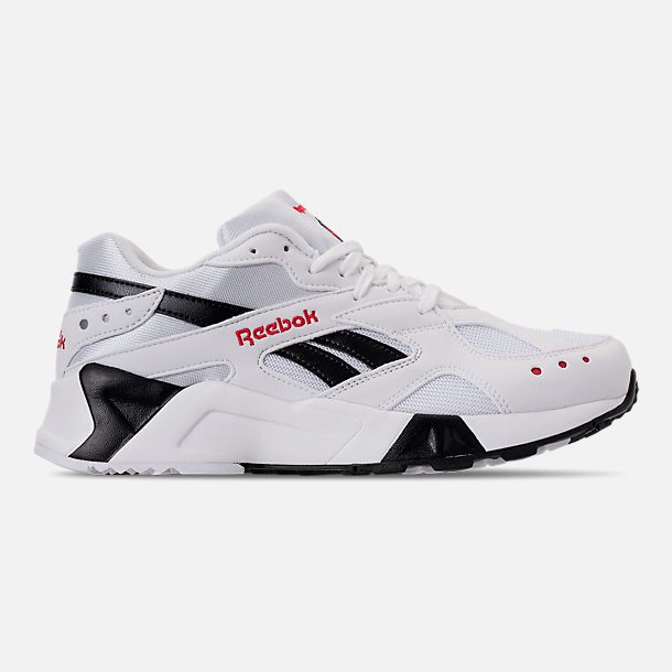 Right view of Men's Reebok Classics Aztrek Casual Shoes in White/Black/Red
