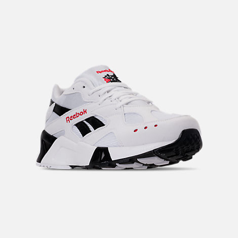 44d78eca5b8c9b Three Quarter view of Men s Reebok Classics Aztrek Casual Shoes in White  Black Red