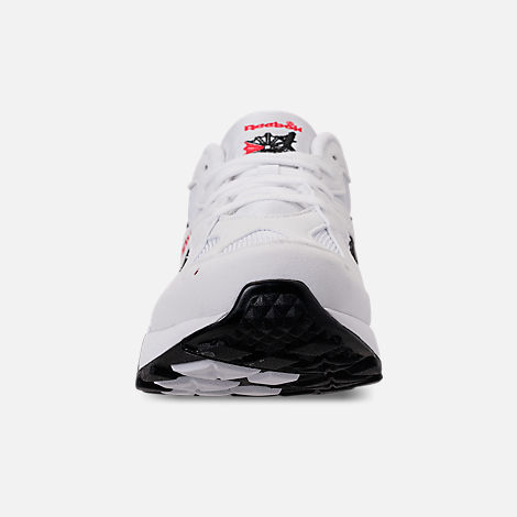 c6c3ad93ee5992 Front view of Men s Reebok Classics Aztrek Casual Shoes in White Black Red