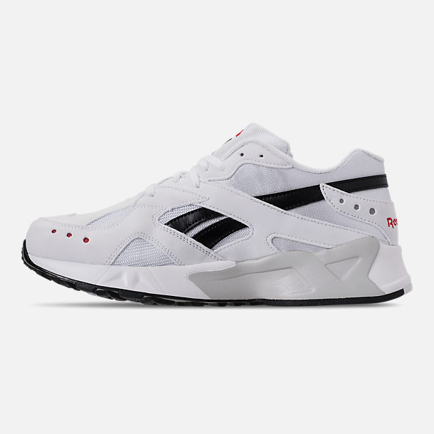 Left view of Men's Reebok Classics Aztrek Casual Shoes in White/Black/Red
