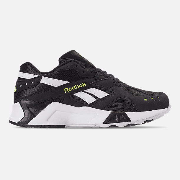 Right view of Men's Reebok Classics Aztrek Casual Shoes in Black/White/Solar Yellow
