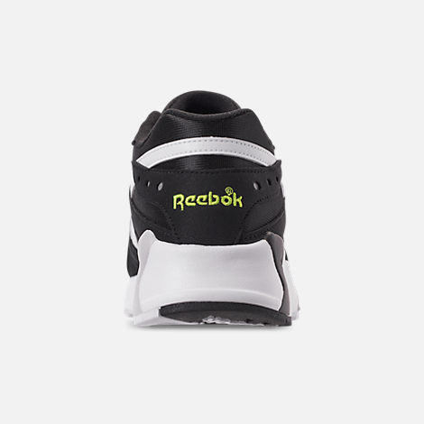 Front view of Men's Reebok Classics Aztrek Casual Shoes in Black/White/Solar Yellow
