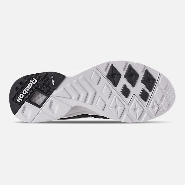 Bottom view of Men's Reebok Classics Aztrek Casual Shoes in Black/White/Solar Yellow