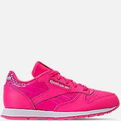Girls' Little Kids' Reebok Classic Leather Girl Squad Casual Shoes