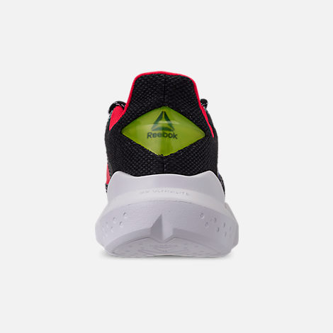 Back view of Men's Reebok Split Fuel Casual Shoes in White/Black/Team Dark Royal/Neon Red