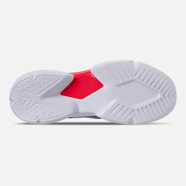 Bottom view of Men's Reebok Split Fuel Casual Shoes in White/Black/Team Dark Royal/Neon Red