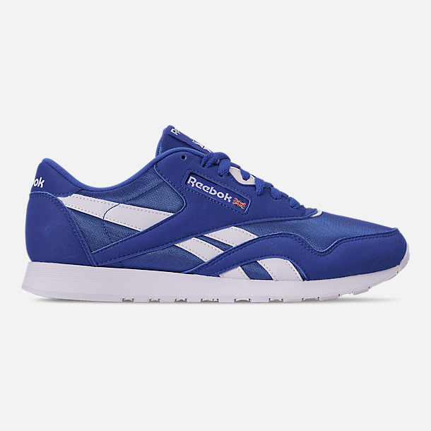 9d560887524 Right view of Men s Reebok Classic Nylon Casual Shoes in Crushed  Cobalt White