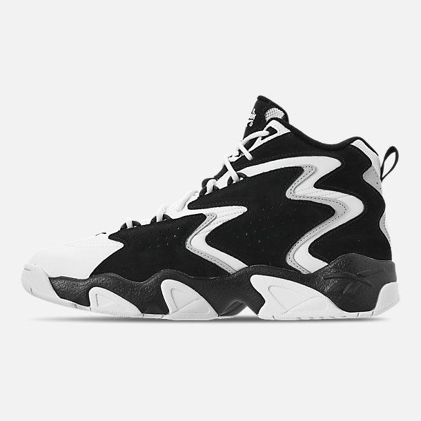 89dc95889b67 Left view of Men s Reebok Mobius OG MU Basketball Shoes in Black White Snow
