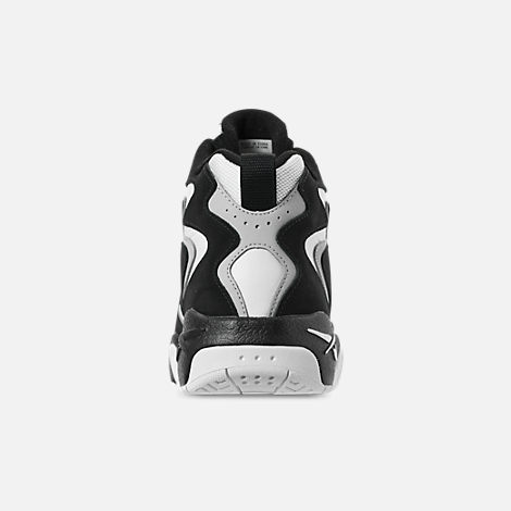 Back view of Men's Reebok Mobius OG MU Basketball Shoes in Black/White/Snow Grey