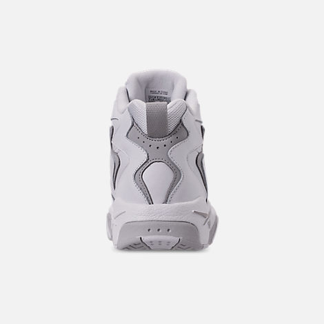 Back view of Men's Reebok Mobius OG Basketball Shoes in White/Snowy Grey