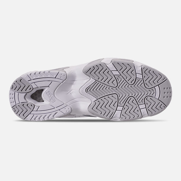Bottom view of Men's Reebok Mobius OG Basketball Shoes in White/Snowy Grey