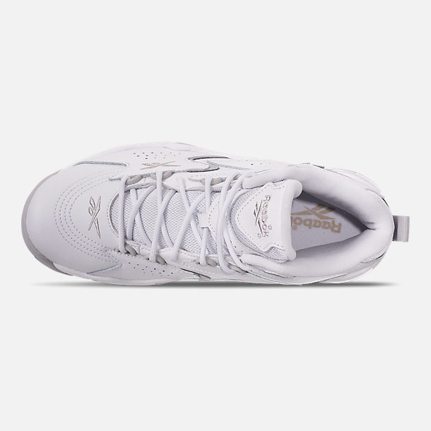 Top view of Men's Reebok Mobius OG Basketball Shoes in White/Snowy Grey