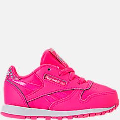 Girls' Toddler Reebok Classic Leather Girl Squad Casual Shoes