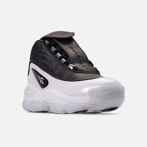 307e0eba7a2e Three Quarter view of Men s Reebok Iverson Legacy Basketball Shoes in Black  White Reebok