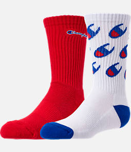 Kids' Champion Allover Print Big C 2-Pack Crew Socks