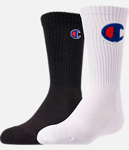 Kids' Champion Chenille Patch 2-Pack Crew Socks