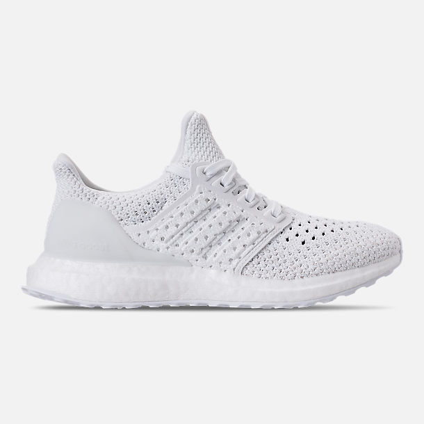 Right view of Kids' Grade School adidas UltraBOOST Clima Running Shoes in White/White/Grey