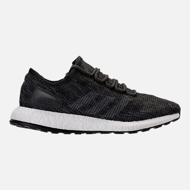 Right view of Men's adidas PureBOOST Running Shoes in Black/Grey/Carbon
