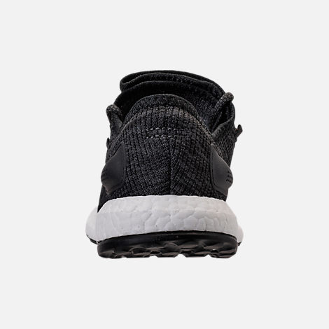 Back view of Men's adidas PureBOOST Running Shoes in Black/Grey/Carbon