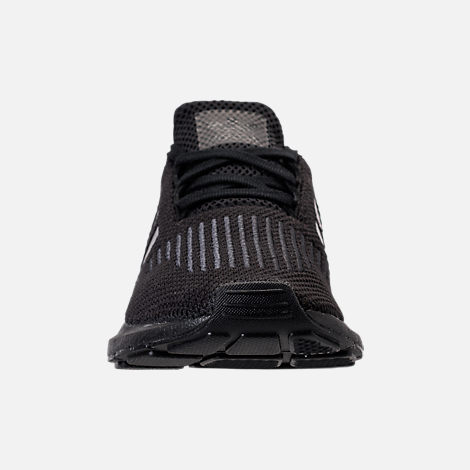 Front view of Boys' Preschool adidas Swift Run Casual Shoes in Core Black