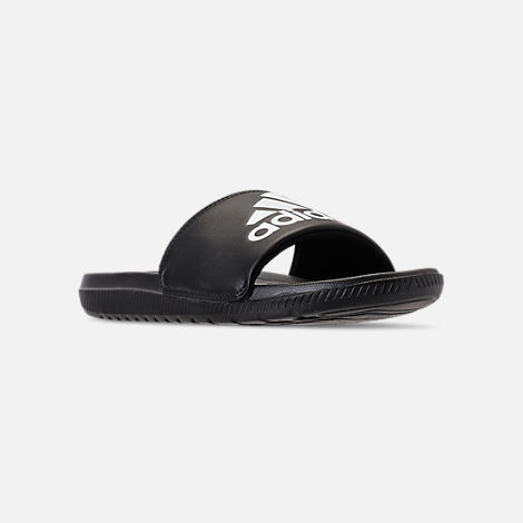 b492f42e514 Three Quarter view of Men s adidas Voloomix Slide Sandals in Black White