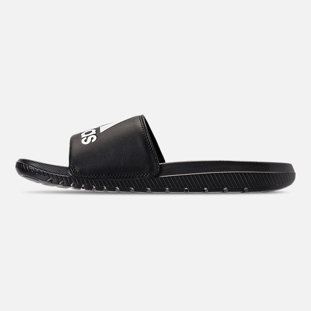 80bafaa1ae5b Left view of Men s adidas Voloomix Slide Sandals in Black White