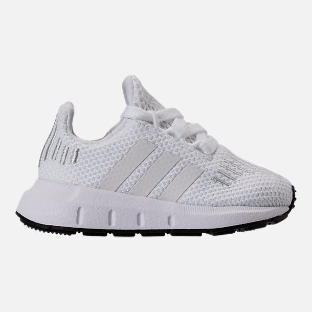 Right view of Girls' Toddler adidas Swift Run Casual Shoes in White/White