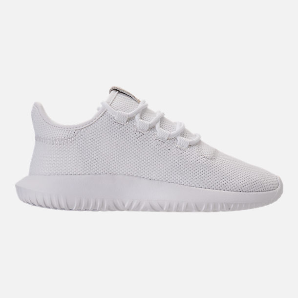 Right view of Kids' Grade School adidas Tubular Shadow Casual Shoes in White/White