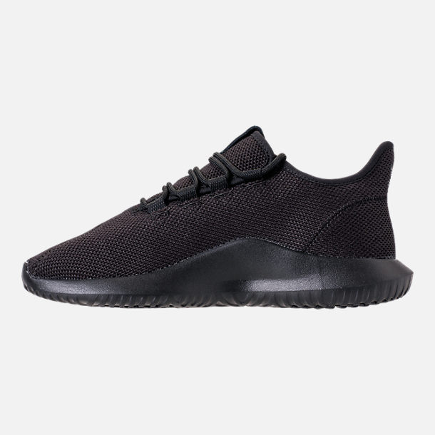 b6d72492d201 Left view of Big Kids  adidas Tubular Shadow Casual Shoes in Triple Black