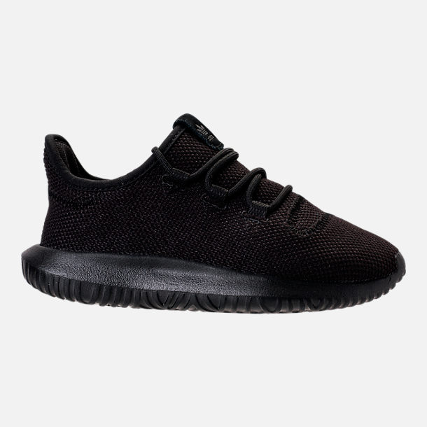 Right view of Boys' Preschool adidas Tubular Shadow Casual Shoes in Black/Black