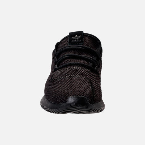 Front view of Boys' Preschool adidas Tubular Shadow Casual Shoes in Black/Black