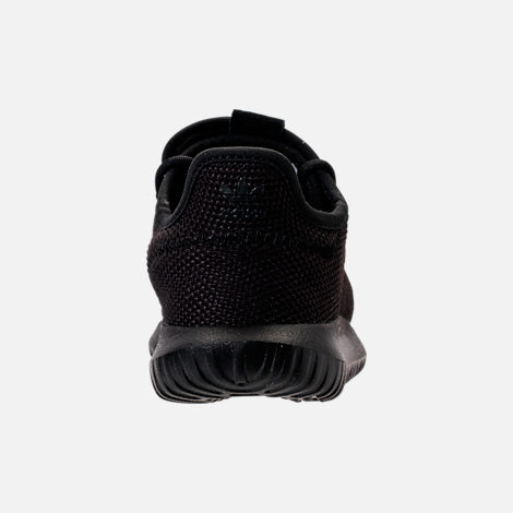 Back view of Boys' Preschool adidas Tubular Shadow Casual Shoes in Black/Black
