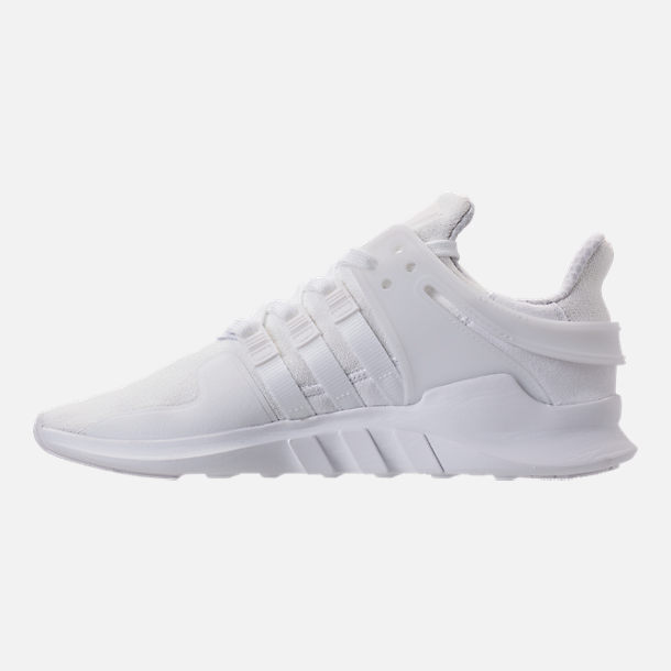 12cc15f807b1 sale left view of mens adidas eqt support adv casual shoes in white white  black 4c91f