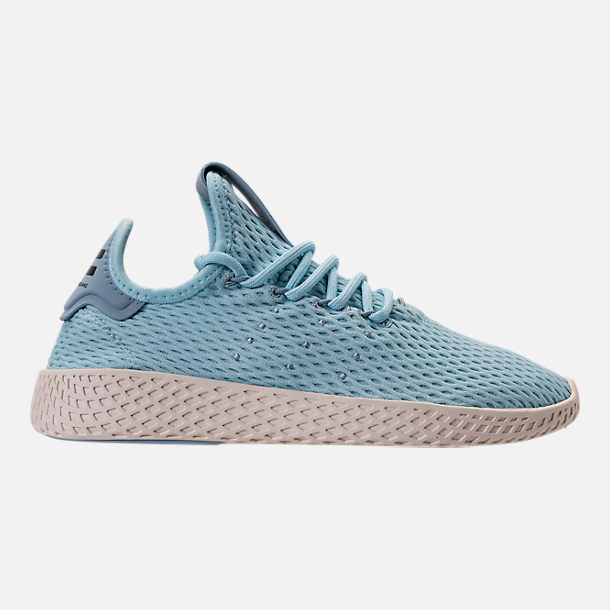 Right view of Boys' Grade School adidas Originals Pharrell Williams Tennis HU Casual Shoes in Ocean Blue/White