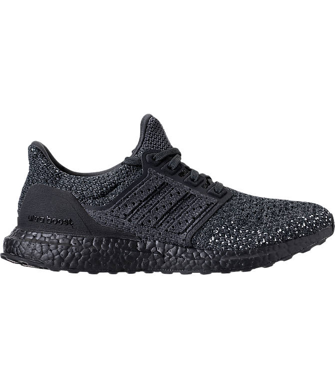Front view of Men's adidas UltraBOOST Clima Running Shoes in Carbon/Carbon