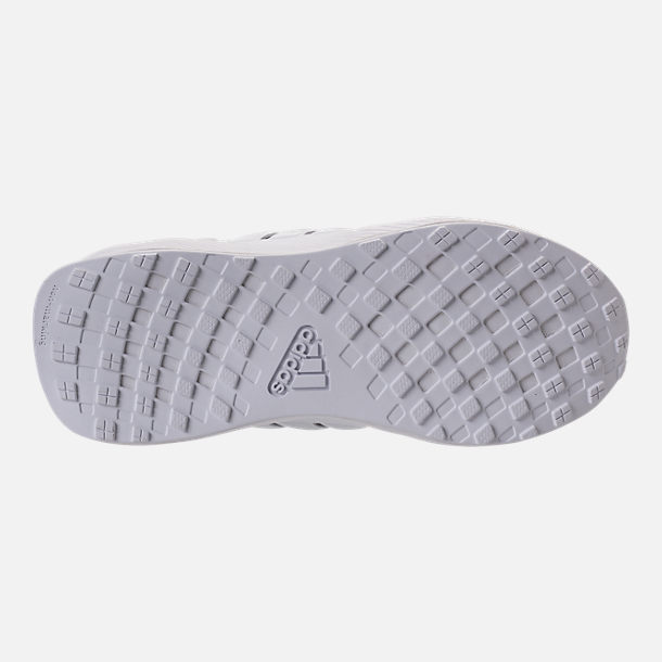 Bottom view of Boys' Preschool adidas RapidaRun Knit Running Shoes in Grey/White/White
