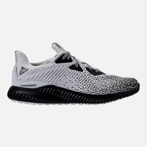Right view of Men's adidas AlphaBounce Circular Knit Running Shoes in Core Black/Footwear White
